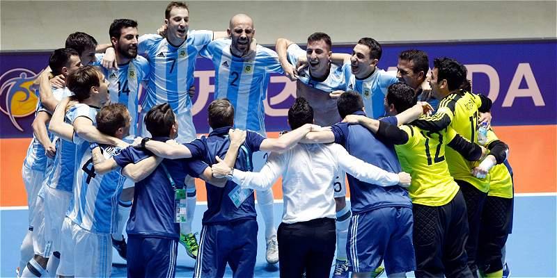 Argentina venció 5-2 a Portugal y pasó a la final del Mundial Fútsal