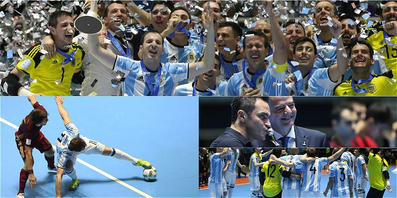Final fútsal / Collage