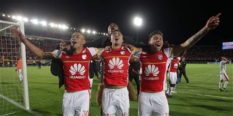 Las mejores fotografías del partido entre Santa Fe y Luqueño en Bogotá