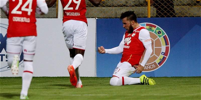 De la mano de Jonatan Gómez, Santa Fe venció 2-0 a Cerro en Copa