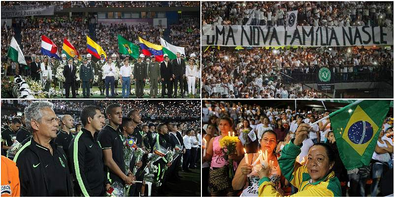Homenaje en el Atanasio Girardot / Collage