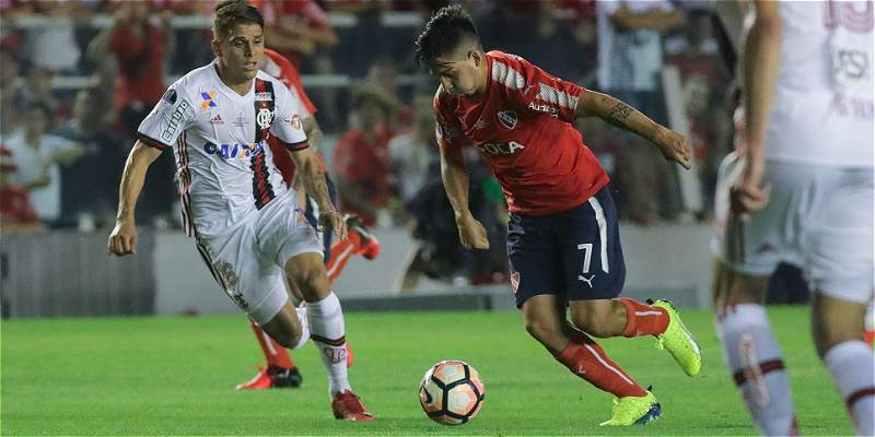 Independiente venció en la ida a Flamengo