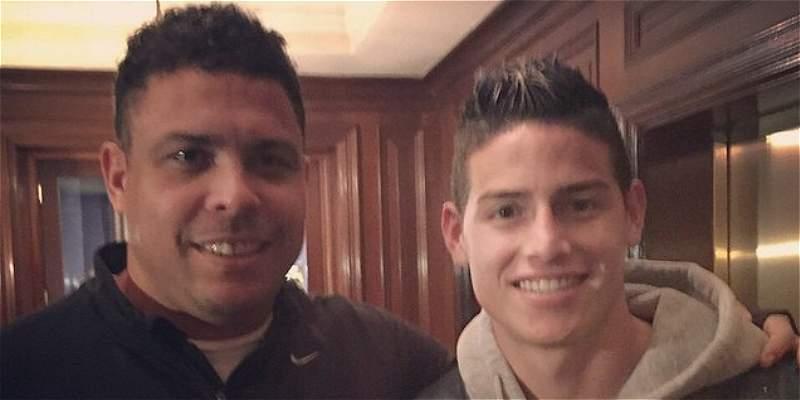 Encuentro de dos cracks: Ronaldo se tomó foto con James Rodríguez
