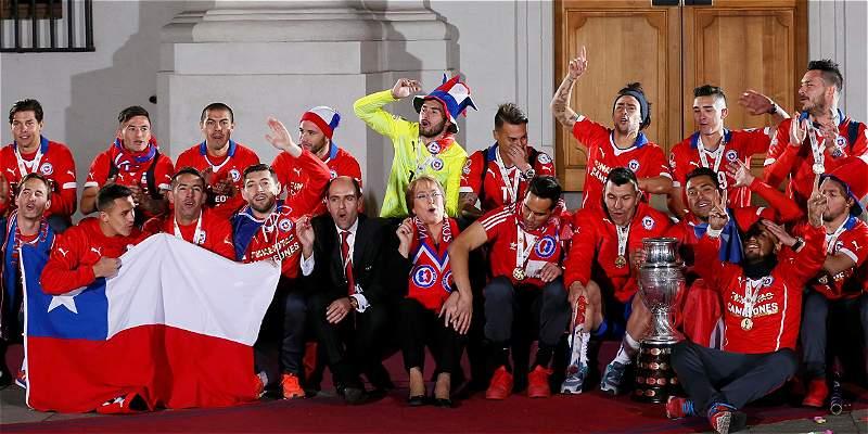 Chile celebró la Copa América en la casa de la presidenta Bachelet