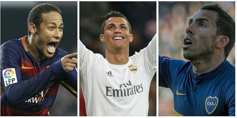 Neymar Cristiano y Tévez de cumpleaños
