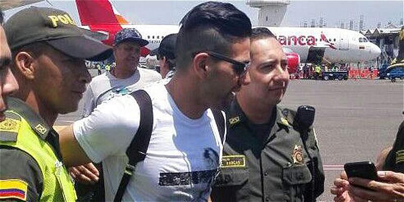 Falcao García llegó a Santa Marta para apoyar un proyecto social