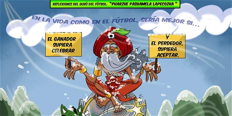 La caricatura de TRIANA y el amago de pelea en el Nacional vs. Rosario