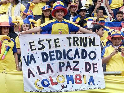 Manifestaciones de paz en el fútbol colombiano (galería)