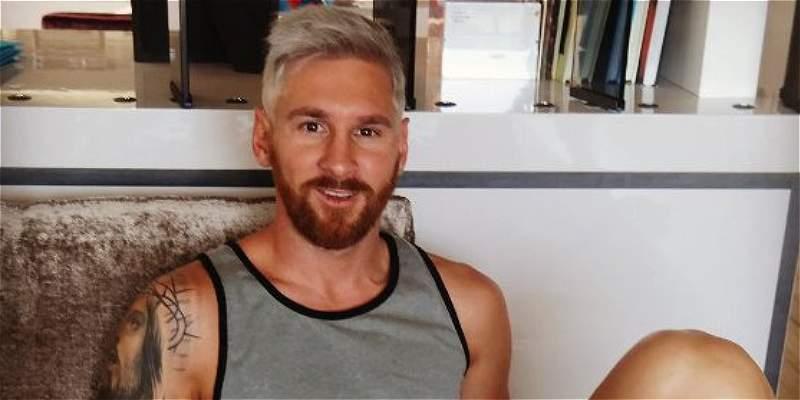 Lionel Messi se unió a la onda de los rubios: el crack cambió de look