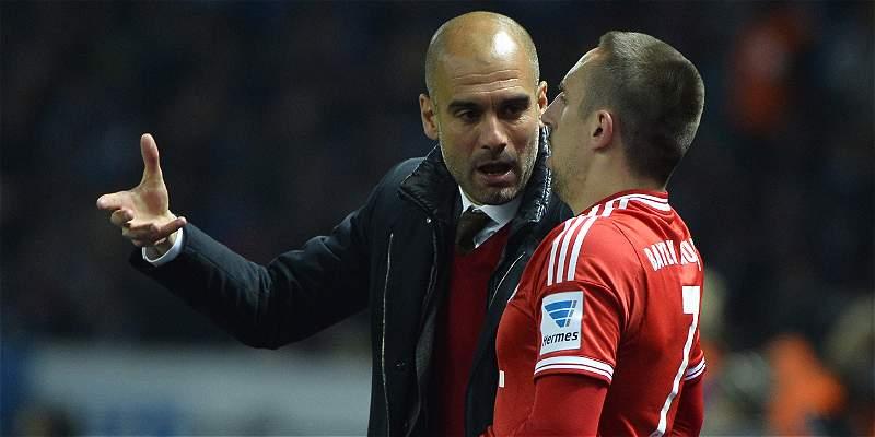Ribéry y Guardiola se cruzan mensajes de amor-odio a distancia