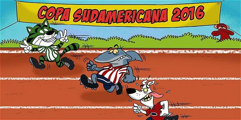 La caricatura de TRIANA y los equipos colombianos en la Suramericana