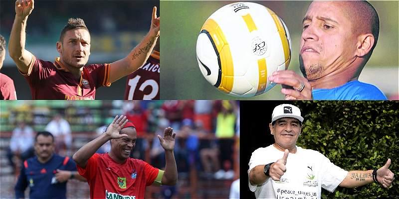 Ronaldinho, Roberto Carlos y Maradona en partido por la paz, en Roma