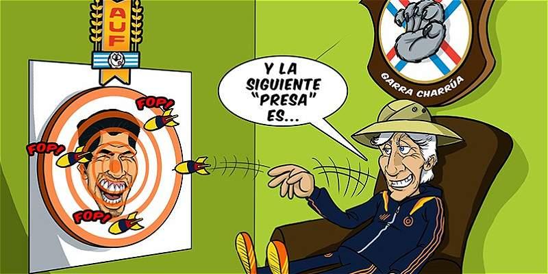 La caricatura de TRIANA previo al partido entre Colombia y Uruguay