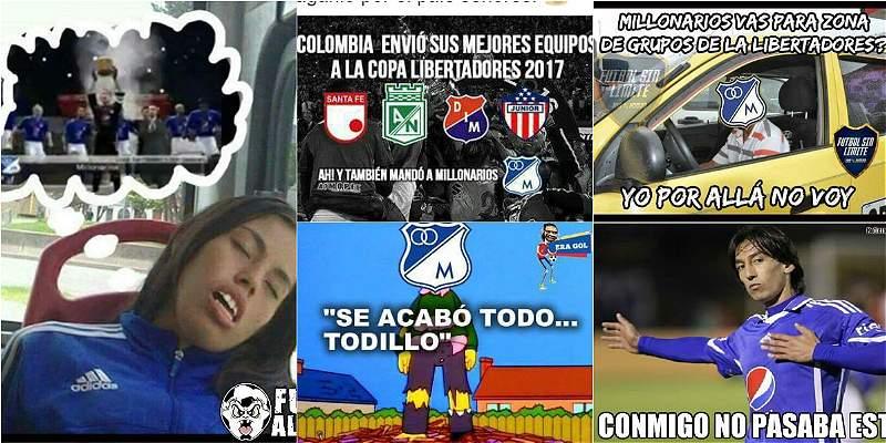 Los mejores memes de la eliminación de Millonarios de la Libertadores