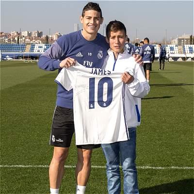 El 'Niño ángel' de Chapecoense visitó a sus ídolos del Real Madrid
