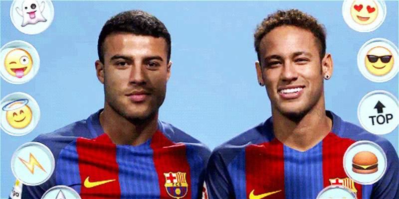 Rafinha y Neymar