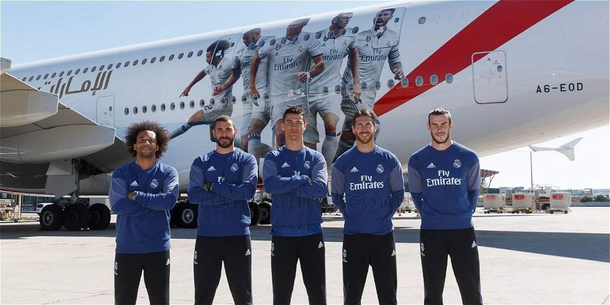 Real Madrid presentó el nuevo diseño de su avión