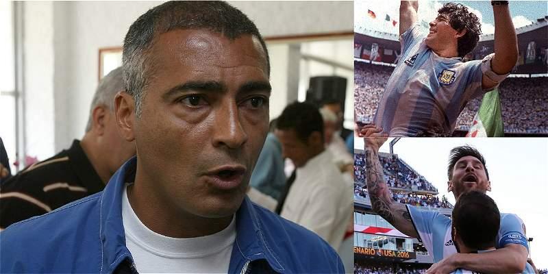 Romario mejor que Messi y Maradona