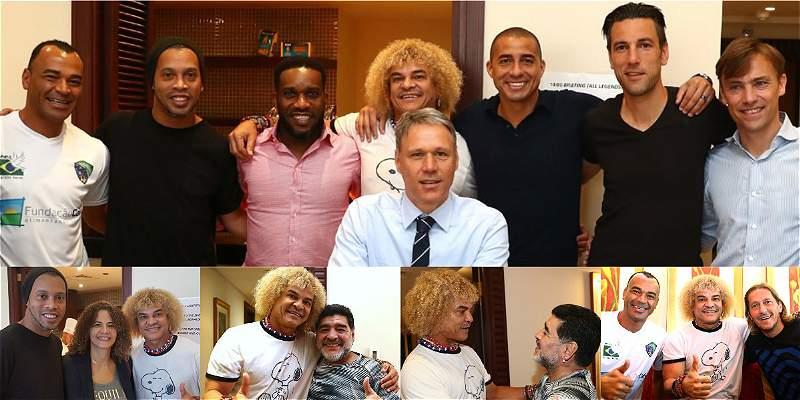 Valderrama y Maradona se encuentran en el \'Fifa Legends\', en Baréin