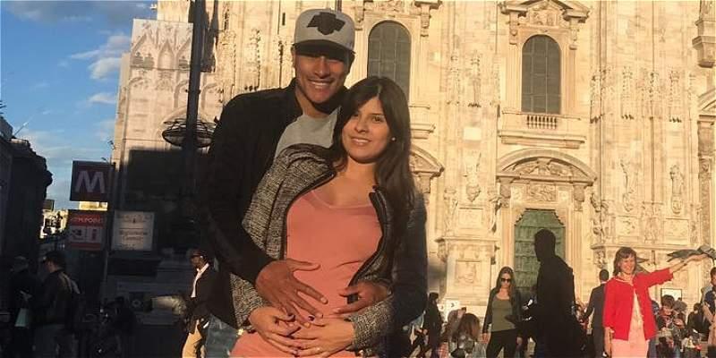 Samanta: amiga, esposa y futura madre del hijo de Jeison Murillo