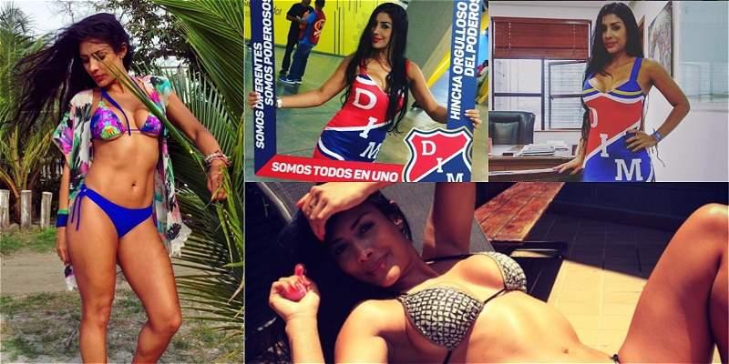 Las mejores fotos de Yuliana Muñoz, bella y sensual porrista del DIM