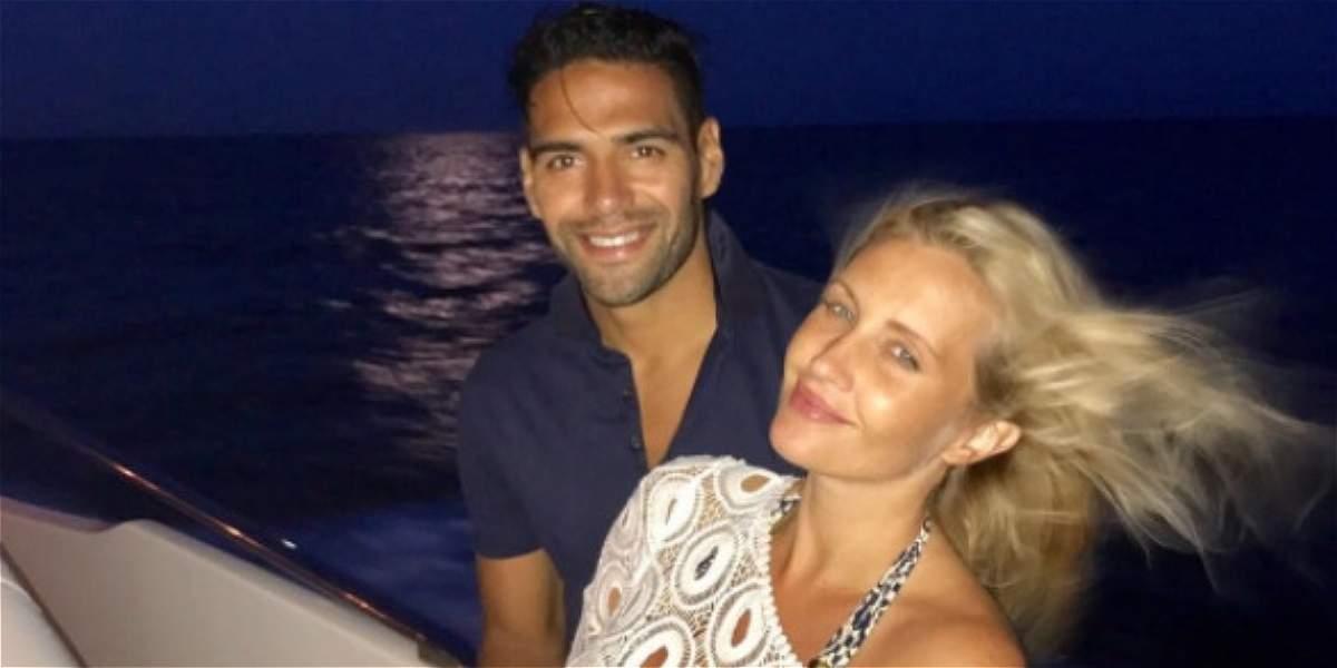 Radamel Falcao García le dio la bienvenida a su tercera hija