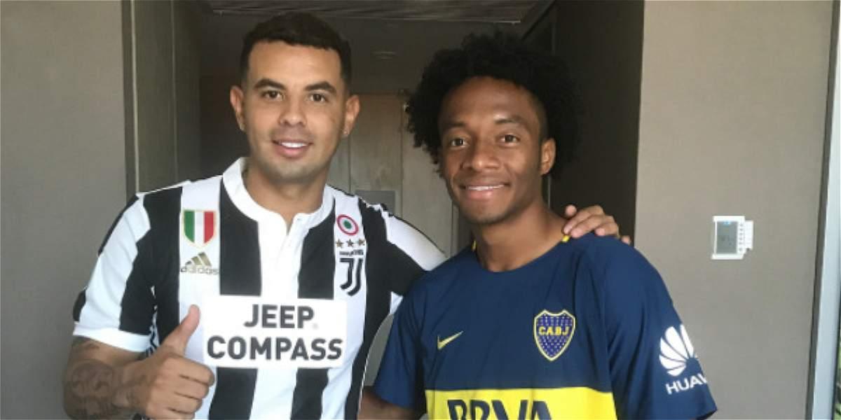 ¡Qué cambio! Cardona se puso la de Juventus y Cuadrado la de Boca