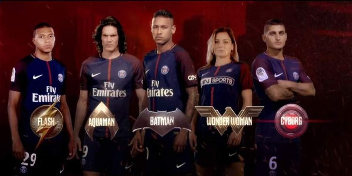 PSG tiene su 'Liga de Justicia': Neymar, Cavani  y Mbappé, sus héroes