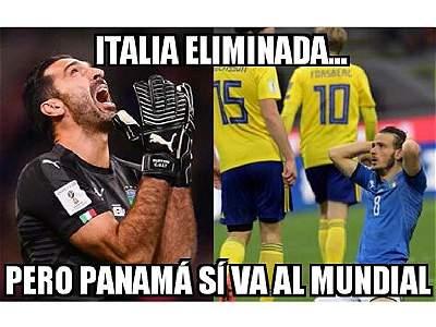 Así registraron los memes la eliminación de Italia del Mundial