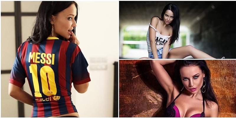 Ella es Angelina Petrova, la modelo ucraniana que es fanática de Messi