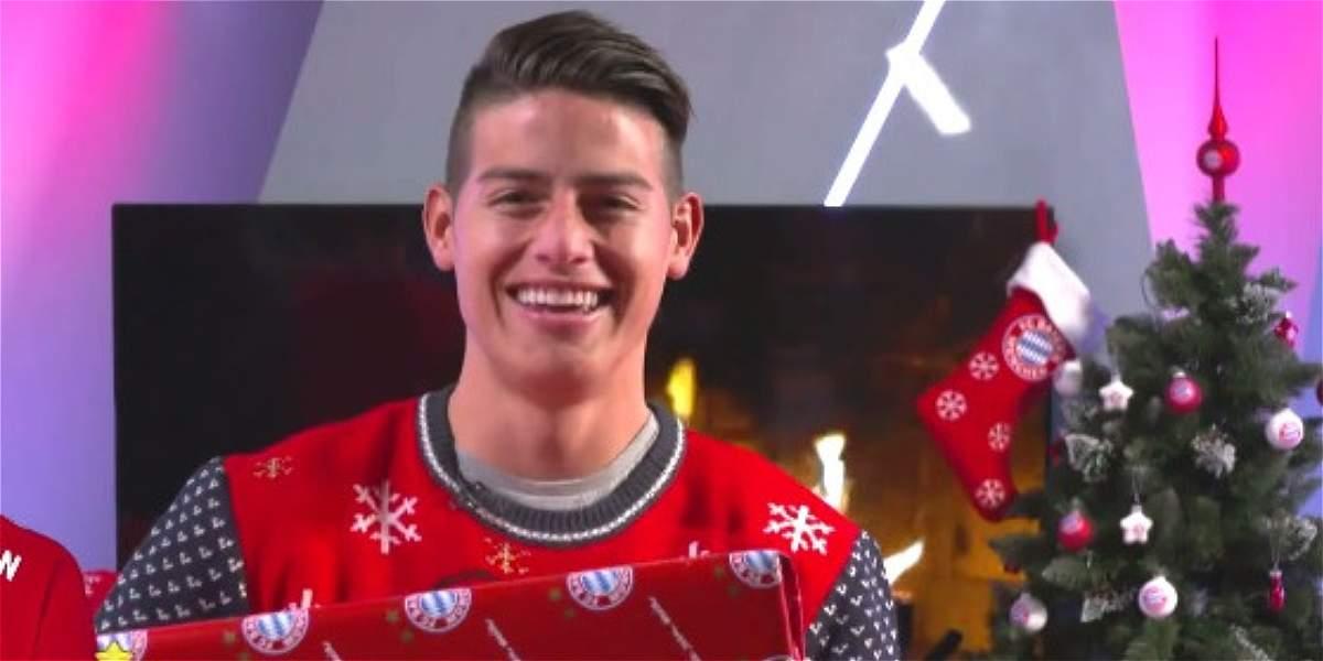 James Rodríguez, el toque latino del primer video navideño del Bayern