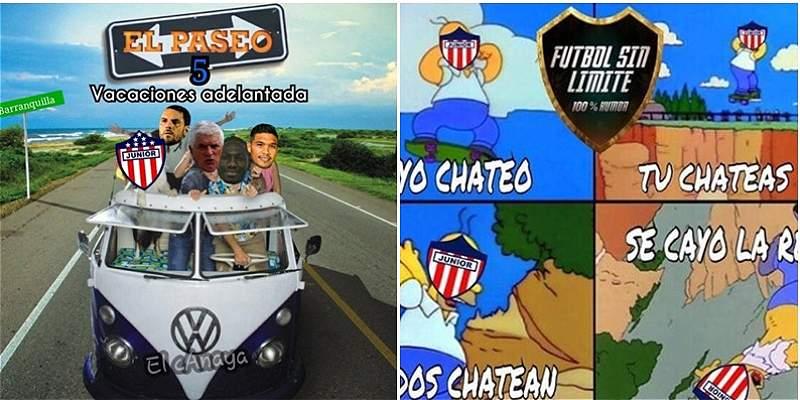 Al estilo de los \'memes\', la eliminación de Junior de la Liga II 2017