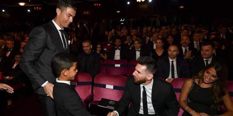 Cristiano Jr y Lionel Messi