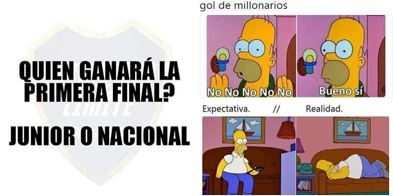 Al estilo de la \'memes\': la final de ida entre Millonarios y Santa Fe