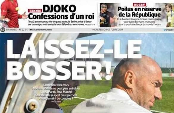 Indignación en Francia por la sanción de tres meses a Zidane