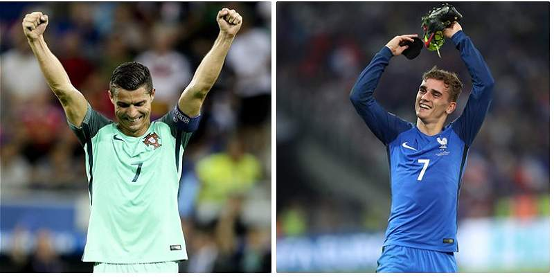 Cristiano Ronaldo vs. Griezmann, un duelo de goleadores en la final
