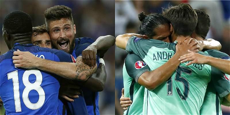 Francia y Portugal definirán el nuevo dueño del trofeo de la Euro