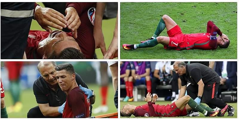 En fotos: así fue la lesión de Cristiano Ronaldo en final de la Euro