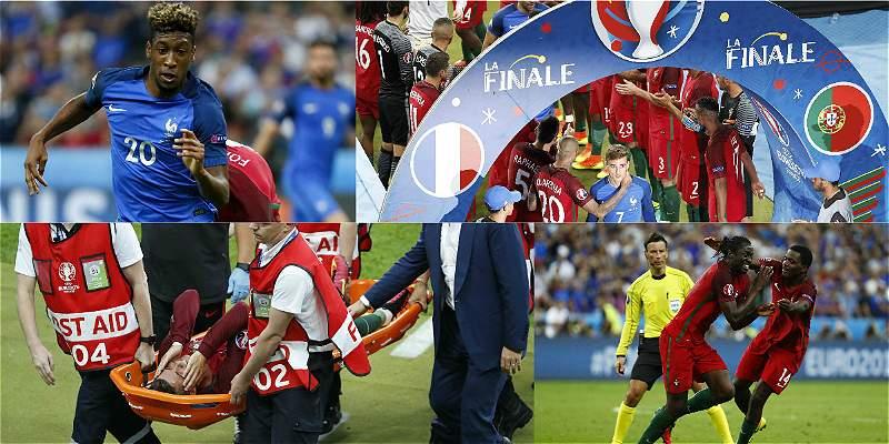 Las mejores fotos del juego que dejó campeón a Portugal sobre Francia