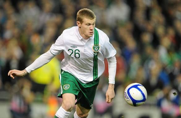 McClean, jugador de la selección irlandesa, recibió amenaz
