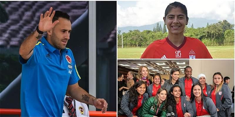 Miembros de la Selección Colombia desean éxitos a la Liga Femenina