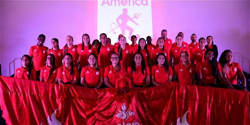 América de Cali presentó su equipo profesional de fútbol femenino