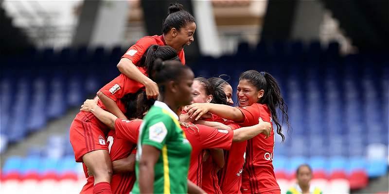 América femenino logró su primer triunfo en Liga: goleó 5-0 a Quindío
