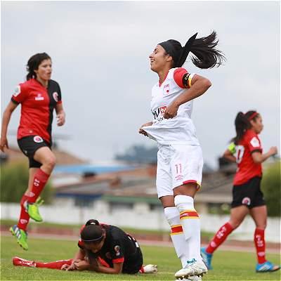 Las mejores fotos del partido entre Cúcuta y Santa Fe, por la Liga Femenina