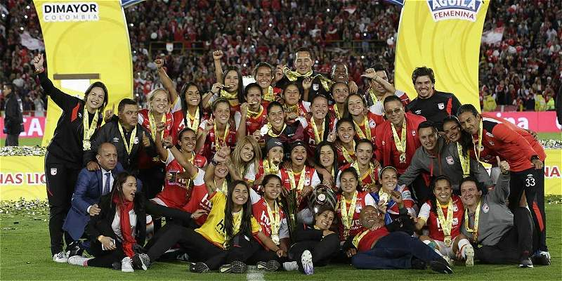 Santa Fe derrotó 1-0 a Huila y se coronó campeón de la Liga Femenina