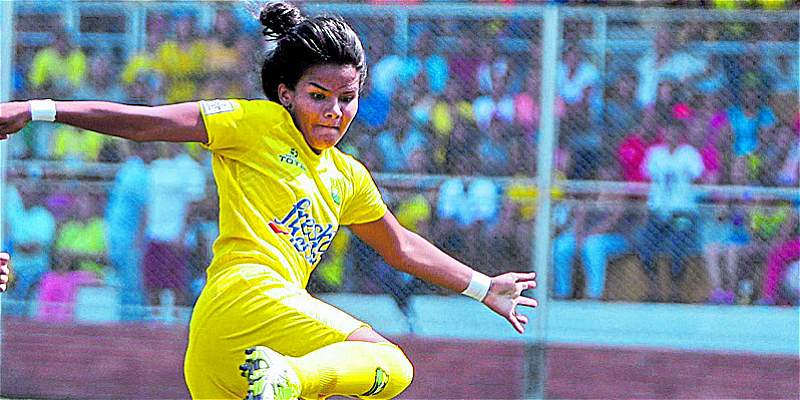 Manuela González, de Bucaramanga, la goleadora de la Liga Femenina
