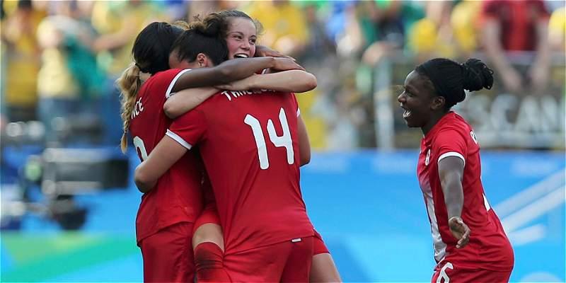 Brasil femenina se quedó sin el bronce en Río: Canadá le ganó 1-2