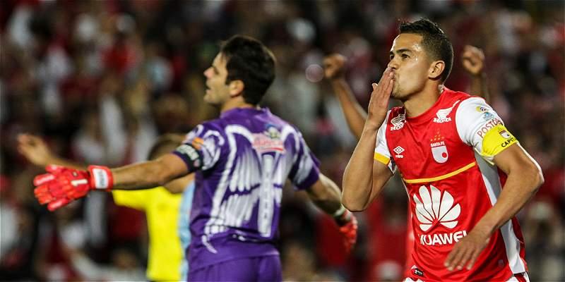 Las mejores imágenes de la goleada 3-0 de Santa Fe a Junior