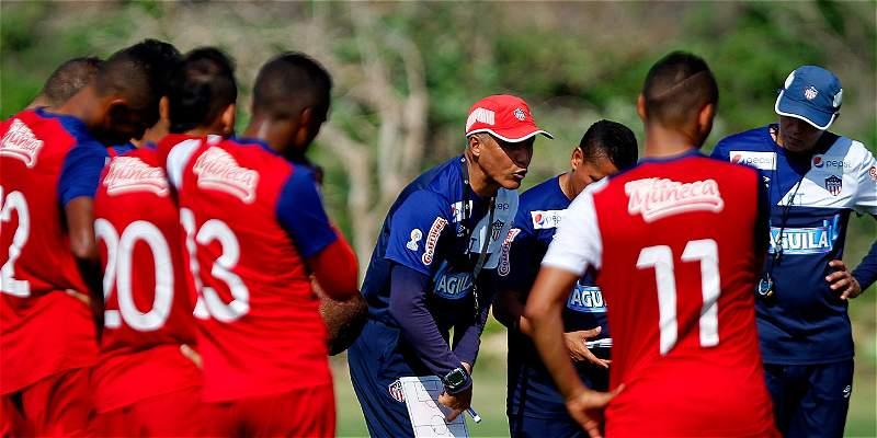 En fotos: el entrenamiento de Junior previo al partido contra Santa Fe