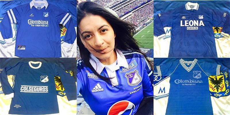 Conozca a Deissy Narváez y su colección de 70 camisetas de Millonarios